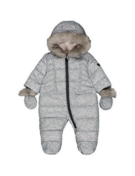 Grey Marl Padded Snowsuit by Mothercare