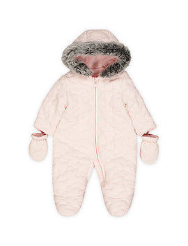 Pink Quilted Snowsuit by Mothercare