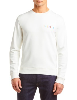 Logo Embroidered Crewneck Sweatshirt by Lacoste