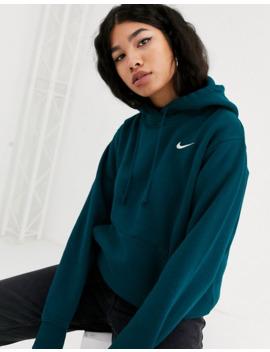 Nike Dark Blue Mini Swoosh Oversized Hoodie by Nike
