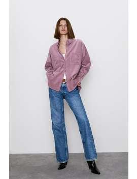 Koszula Sztruksowa Z Kieszeniami Najnowszekobieta by Zara