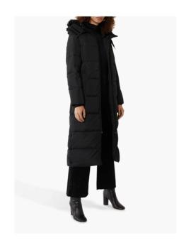 Warehouse Padded Maxi Coat, Black by Warehouse