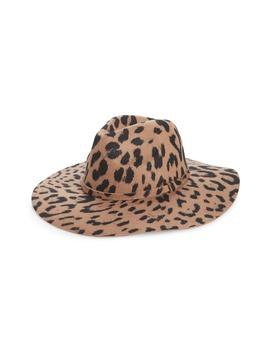 Leopard Print Wool Panama Hat by Bp.