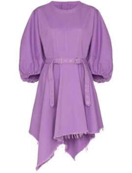 Voluminous Sleeve Belted Dress by Marques'almeida