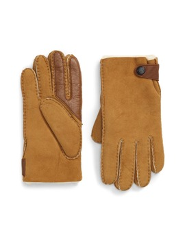 Genuine Shearling Lined Leather Tech Gloves by Ugg®