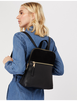 Parker Leather Mini Dome Backpack by Accessorize