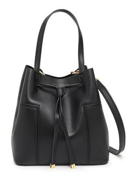 Leather Bucket Bag by Tory Burch