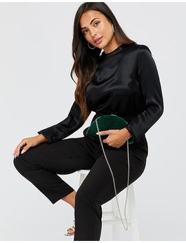 Tanya Velvet Crescent Clutch Bag by Accessorize