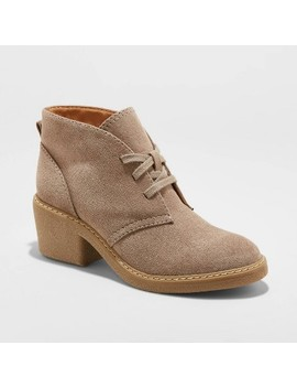 Women's Lucia Microsuede Heeled Lace Up Bootie   Universal Thread™ by Universal Thread