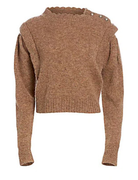 Meery Scalloped Neck Wool Sweater by Isabel Marant Etoile