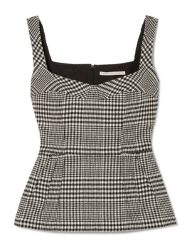 Judy Houndstooth Wool Blend Top by Emilia Wickstead