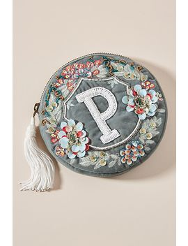 Monogram Crest Pouch by Anthropologie