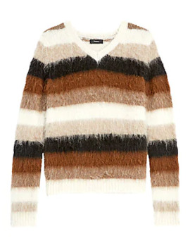 Stripe Alpaca Blend Sweater by Theory