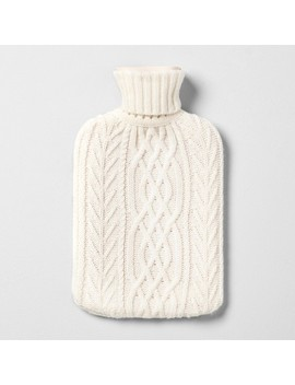 Hot Water Bottle With Knit Sleeve   Hearth & Hand™ With Magnolia by Shop This Collection