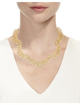 Curved Crystal Choker Necklace by Oscar De La Renta