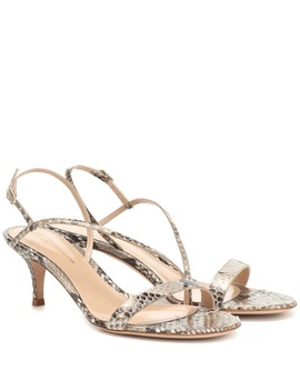 Manhattan 55 Python Leather Sandals by Gianvito Rossi