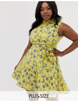 Uttam Boutique Plus Floral Mini Dress by Asos