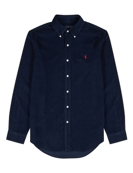 Navy Custom Corduroy Shirt by Polo Ralph Lauren