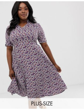 Uttam Boutique Plus Floral Midi Dress by Asos