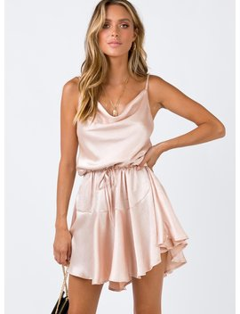 The Lia Mini Dress Champagne by Princess Polly