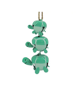St. Nicholas Square Metal Stacked Jingle Bell Turtle Ornament by St. Nicholas Square