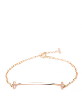 Tiffany 18 K Rose Gold T Smile Bracelet S by Tiffany