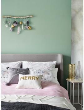 Grey Star Print Soft & Cosy Brushed Cotton Duvet Set by Asda