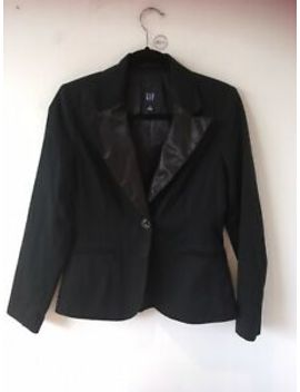 Gap Ladies Black Tuxedo Style Jacket, Size Uk 8 Us 4 by Ebay Seller