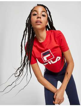Fila Stack Logo Crop T Shirt by Jd Sports