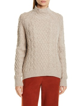 Zigzag & Cable Sweater by Vince
