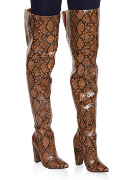 Over The Knee Pointed Toe Boots by Rainbow
