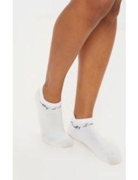 Prettylittlething White Trainer Socks by Prettylittlething
