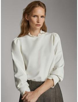 Puff Sleeve Sweatshirt by Massimo Dutti