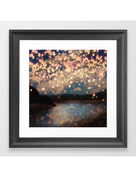 Love Wish Lanterns Framed Art Print by Society6
