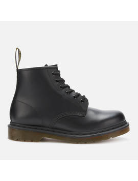 Dr. Martens 101 Smooth Leather 6 Eye Boots   Black by Dr. Martens