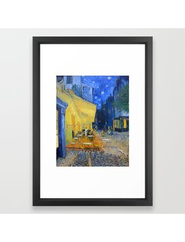 Vincent Van Gogh   Cafe Terrace At Night Framed Art Print by Society6