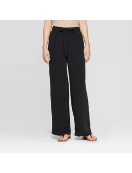Women's Regular Fit Tie Waist Wide Leg Pants   A New Day™ by A New Day