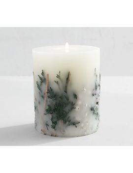 Frosted Hyacinth Scented Pillar Candle by Pottery Barn
