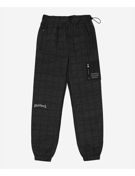 Track Pant Quilted Noir by Wasted