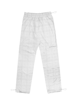 Track Pant Ghost Tartan Reflective Blanc by Wasted