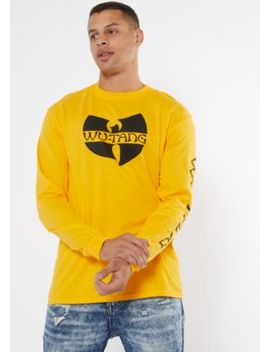 Yellow Crew Neck Wu Tang Graphic Tee by Rue21