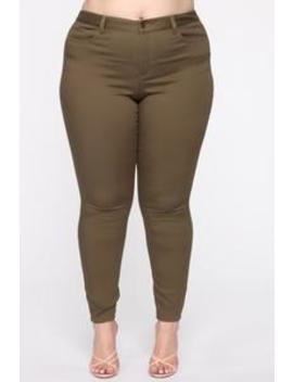 Perfect Butt Skinny Jean   Olive by Fashion Nova
