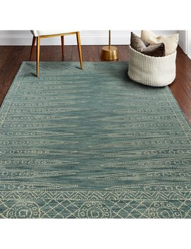 Kiril Hand Tufted Wool Gray/White Area Rug by Bungalow Rose