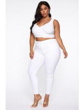 Perfect Butt Skinny Jean   White by Fashion Nova