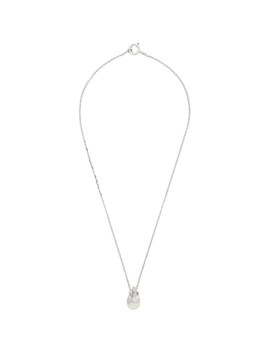Silver Pearl In Heat Necklace by Alan Crocetti