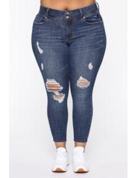 I Can Do It Better Ii Distressed Jeans   Medium Blue Wash by Fashion Nova