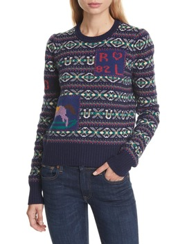 Fair Isle Wool & Cashmere Sweater by Polo Ralph Lauren