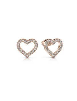 Guess Swarovski Heart Crsytal Rose Gold Plated Studs929/8662 by Argos