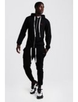 Man Skinny Fit Tracksuit With Long Drawcords by Boohoo Man