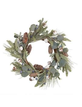 Faux Eucalyptus And Cotton Wreath by World Market